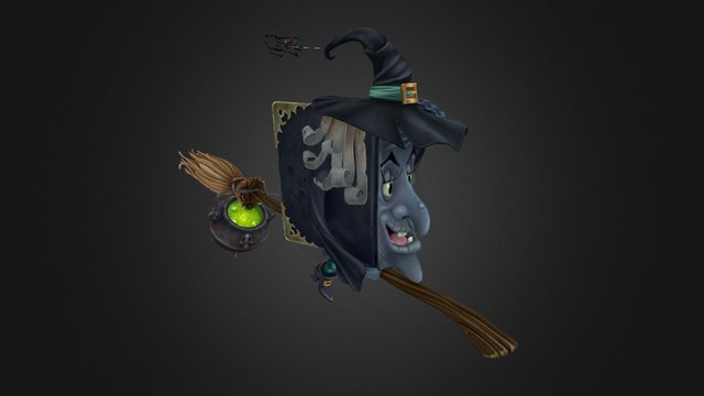 witch book 3D Model