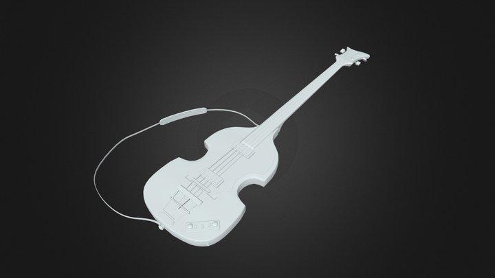 Bass Guitar (Hofner 500/1) 3D Model