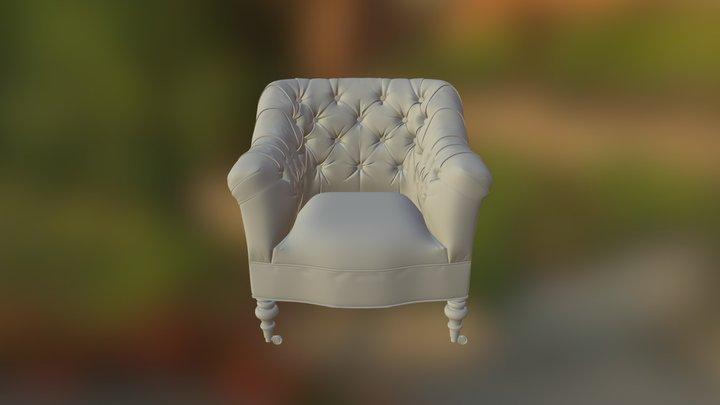 Sutton Leather Chair 3D Model