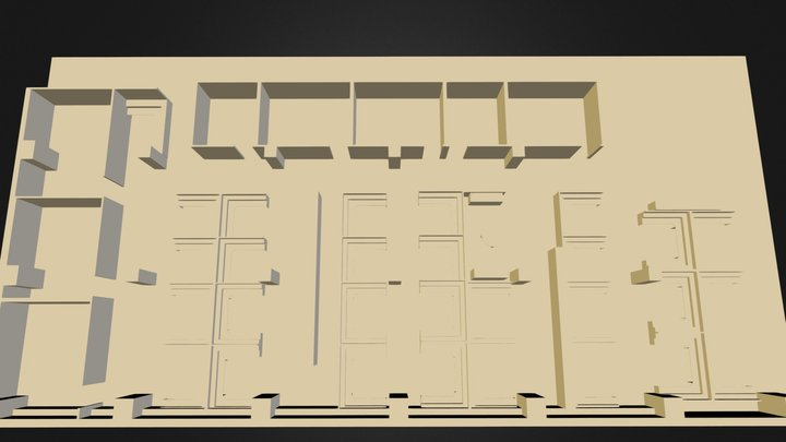 H F P A - G9 Floor Plan Personnel Plot 3D Model