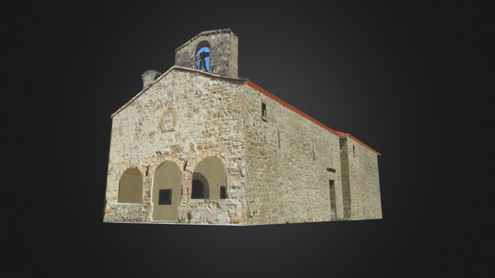 Santa Maria in Pantano, Montegallo 3D Model
