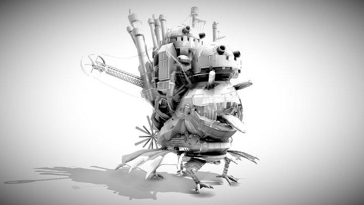 Howl's Moving Castle 01 3D Model