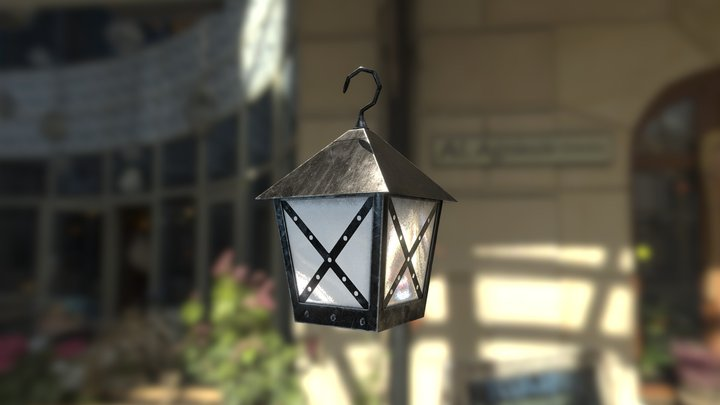 Medieval Lantern lowpoly 3D Model