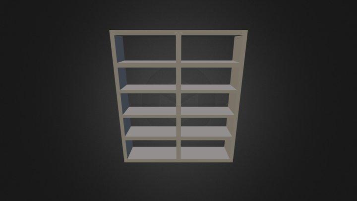 Bookcase 3D-008 3D Model
