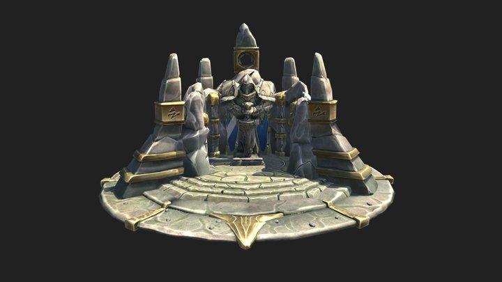 WOW FANART Alliance Praying Altar 3D Model