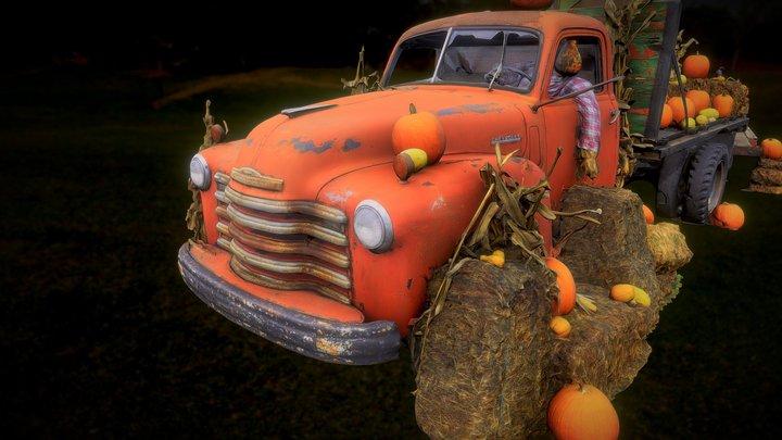 Halloween Truck 3D Model