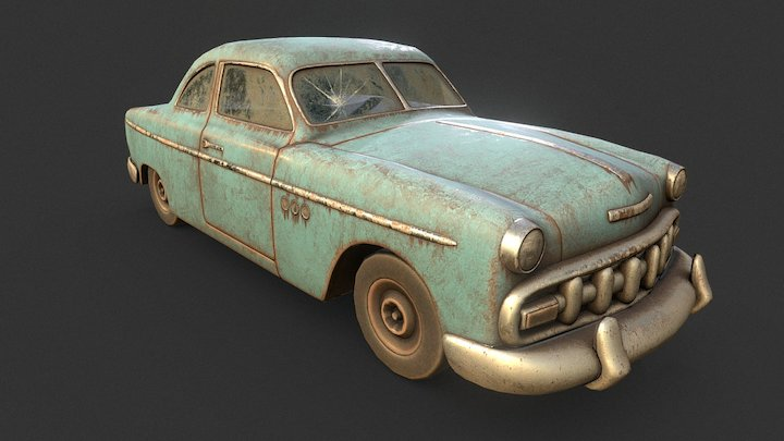 Old Rusty Car (Remade) 3D Model