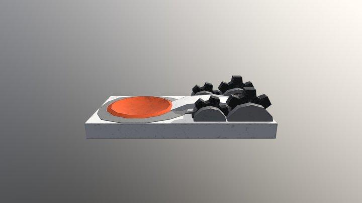 Game Asset Katapult 3D Model