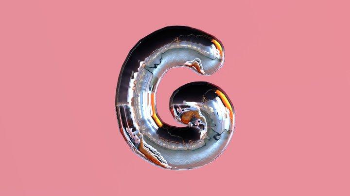Letter G Balloon 3D Model