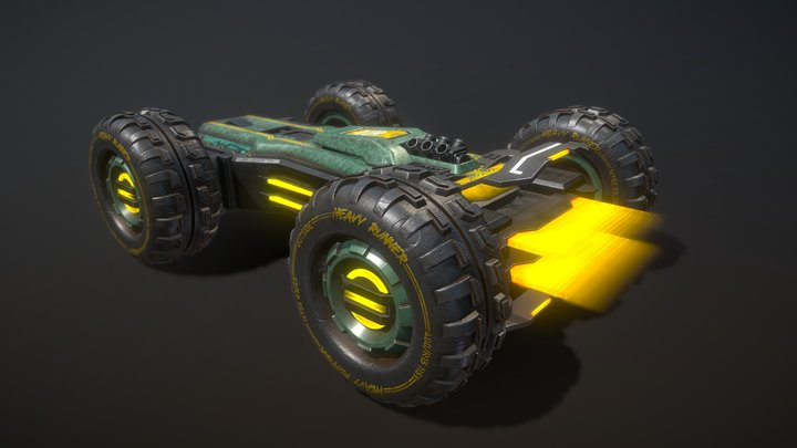 Heavy Runner 2087 3D Model