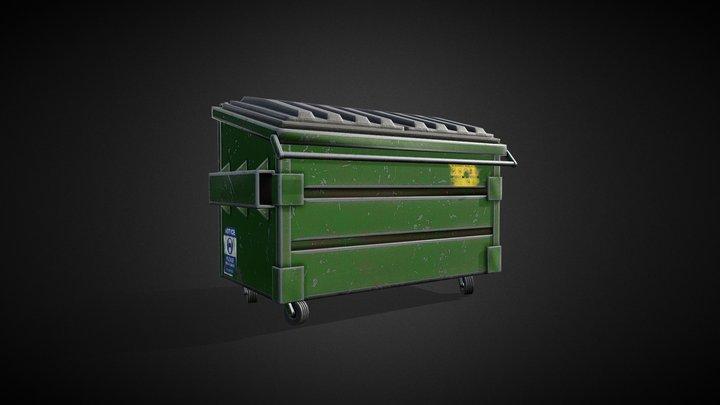 Dumpster- Tutorial Included 3D Model