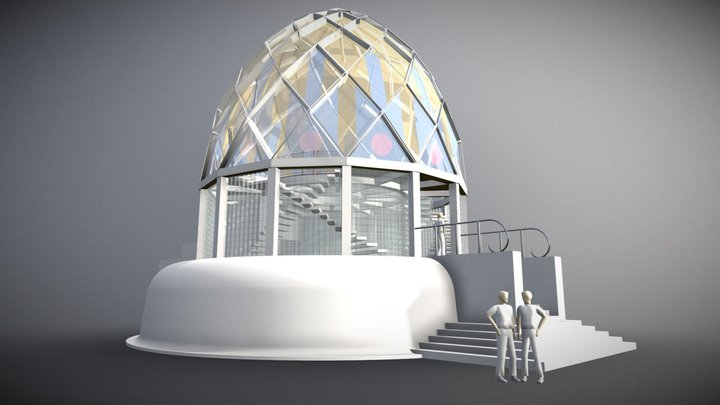 Bruno Taut's Glass Pavilion 3D Model