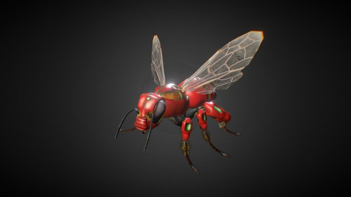 (old) TECH-Bee (Hive Wars video game character) 3D Model