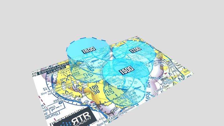 Espacio Aéreo Clase D - RTR Academy RPAs 3D Model