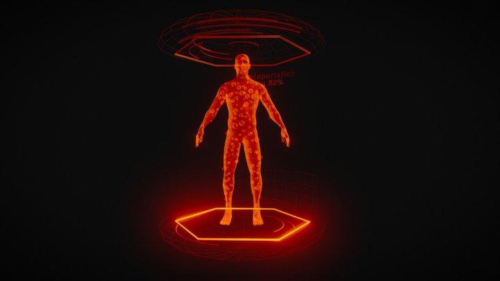 Teleportation Sculpture /// HOLOGRAM 3D Model