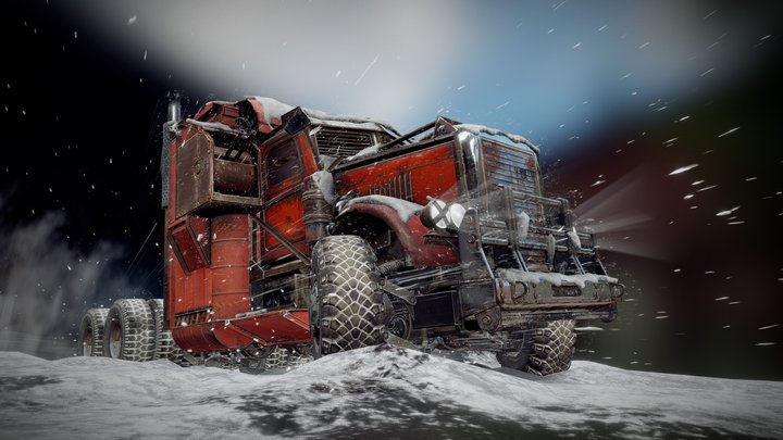 Crossout — 'Frostburn' pack 3D Model