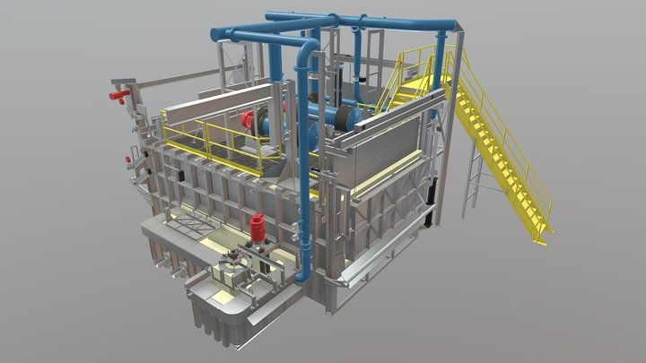 Schaefer Gas Aluminum Furnace 3D Model