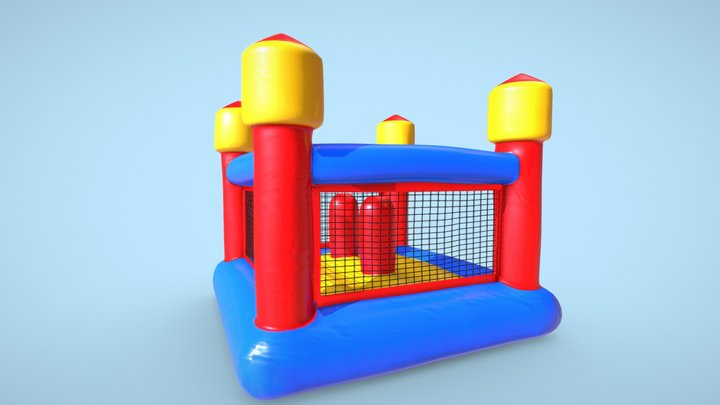 Inflatable Castle Family Fun Gladiator 3D Model