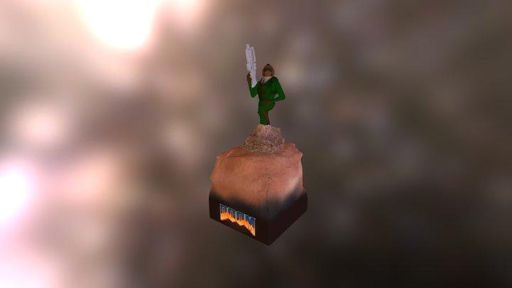 Doomguy 3D Model