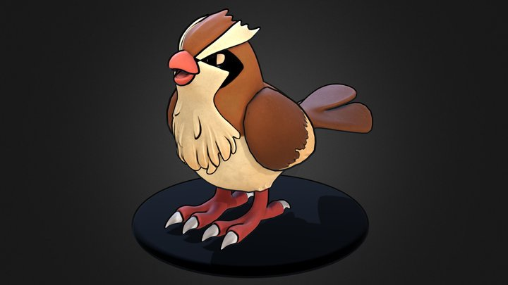 Pidgey Pokemon 3D Model