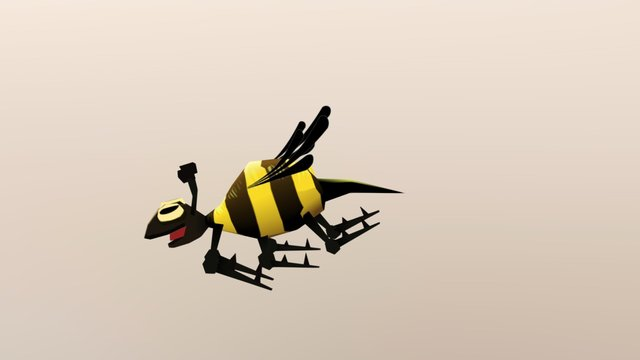 Bee - superfrog - animated 3D Model