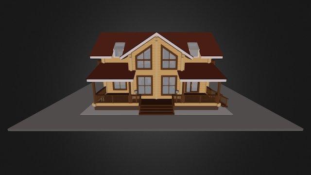 """Проект дома из клееного бруса """"Кольчугино"""" 3D Model"""