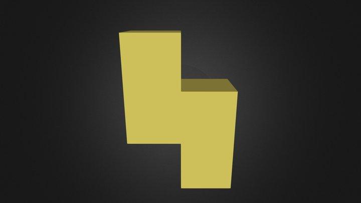 Yellow Puzzle Cube Part 3D Model