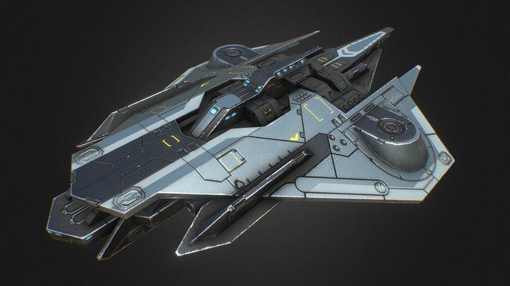 """Battleships """"Firefly"""" 3D Model"""