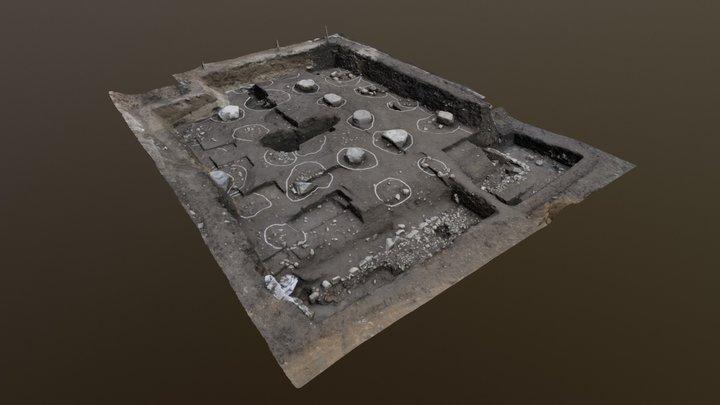 金堂基壇発掘調査トレンチ(河内寺廃寺跡・平成26年) 3D Model