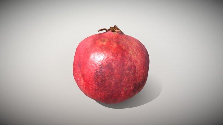 Fruit Pomegranate - Photoscanned PBR 3D Model