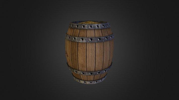 Pirate Barrel 3D Model