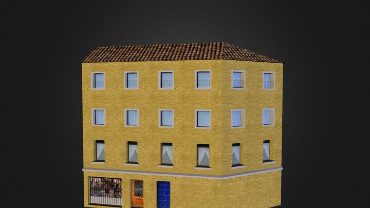 City Scene Venice House 5 3D Model