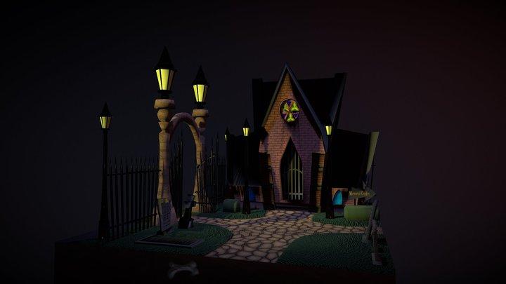 Cemetery Die-orama 3D Model