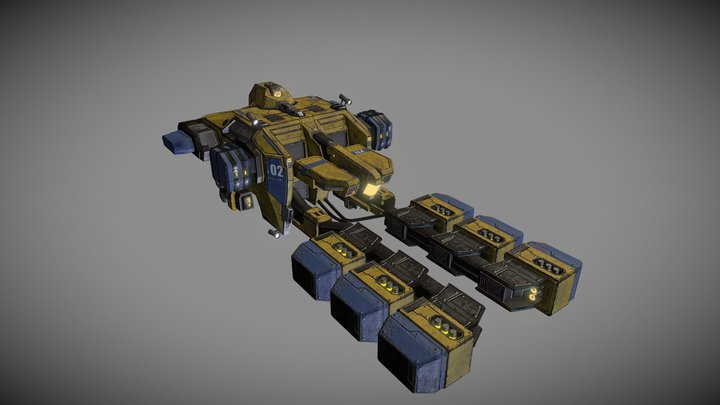 ORE Mining Frigate Venture Class EVEO Fanart 3D Model
