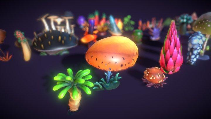 Cartoon Seaweed 3 3D Model
