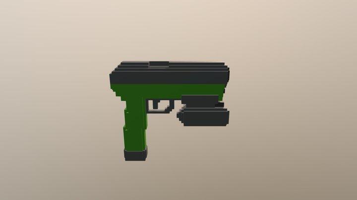 Voxel Pistol 3D Model