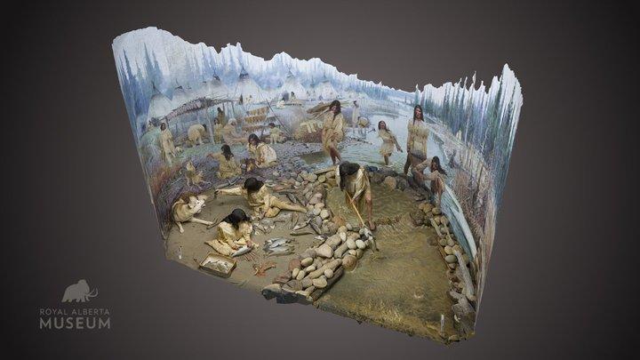 Fish Camp diorama 3D Model
