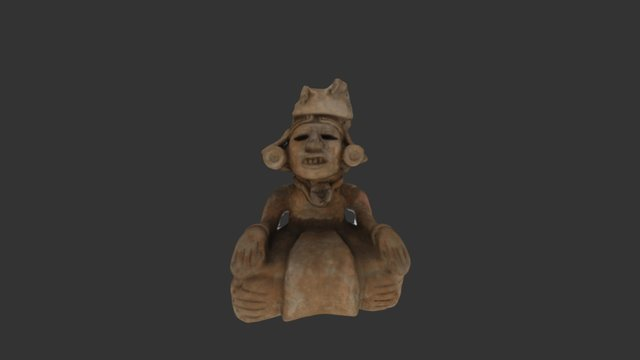 Clay Funerary Figure, Mexico 3D Model