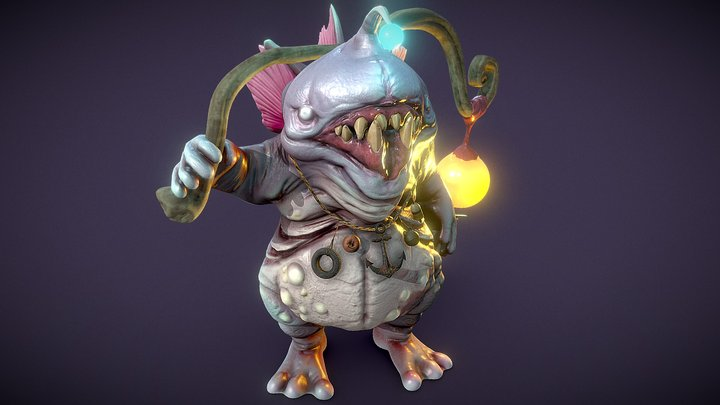 Luring Maw - Creature 3D Model