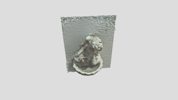 Pila bautismal de ángel 3D Model