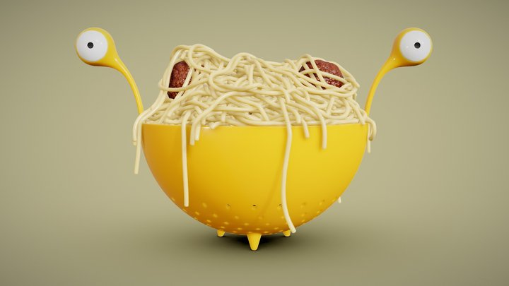 Spaghetti Monster Strainer 3D Model