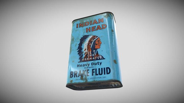 Indian Head Break Fluid Can 3D Model
