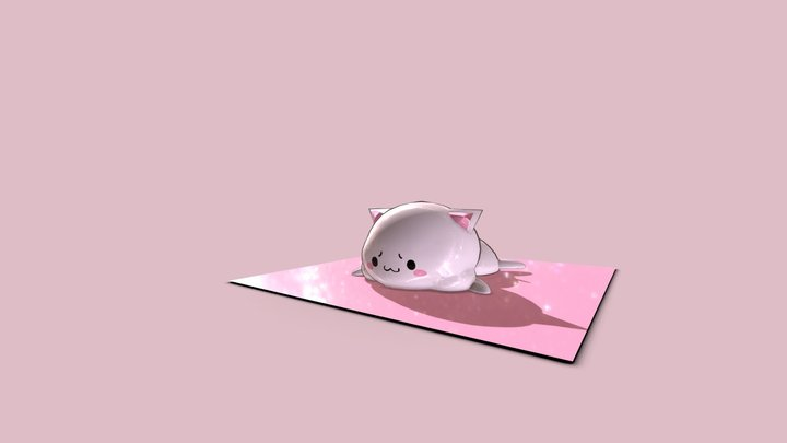 Nekochan the Jelly Cat 3D Model