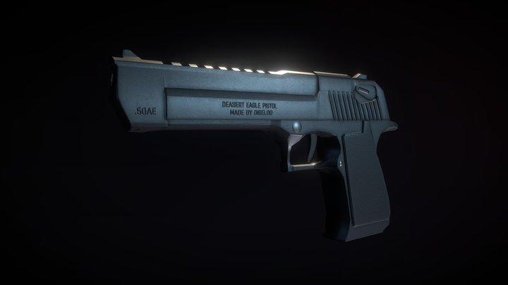 Deasert Eagle Gray 3D Model