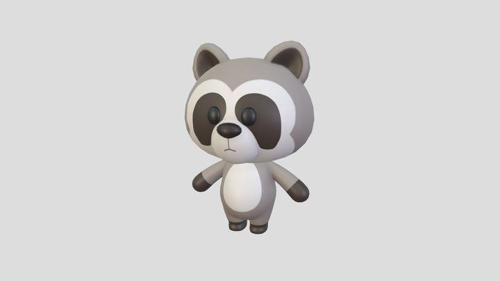 Character017 Raccoon 3D Model