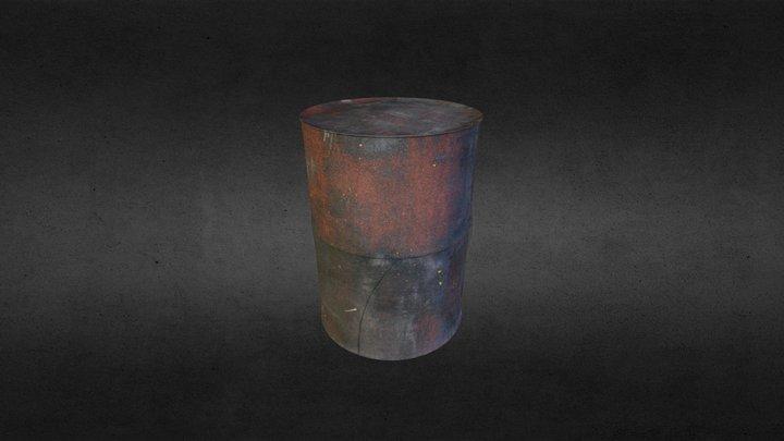 Rusty Barrel - simple 3D Model