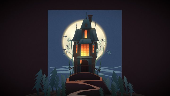 Kooky Spooky House on Haunted Hill 3D Model