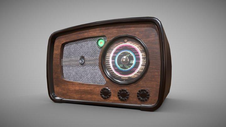 VEF M557 radio 3D Model