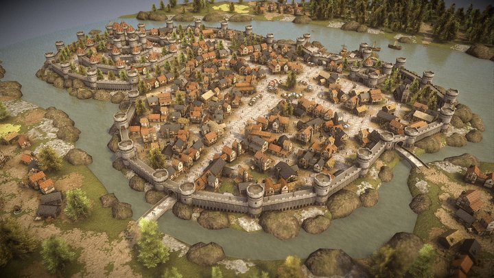 Medieval City Pack Demo 3D Model