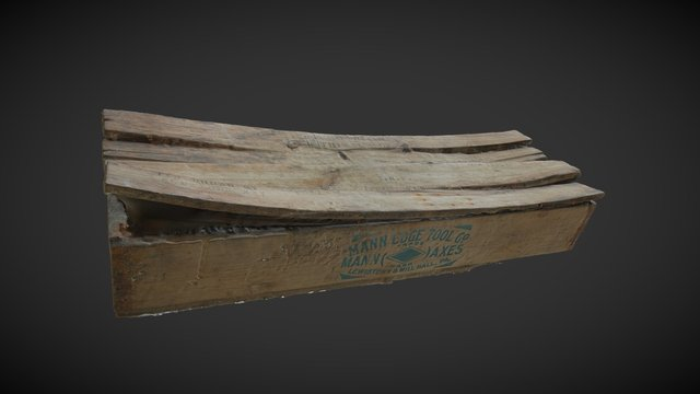 1929 Burial Box from old Melbourne Goal 3D Model